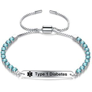 Personalized Engraved Diabetes Medical Alert ID
